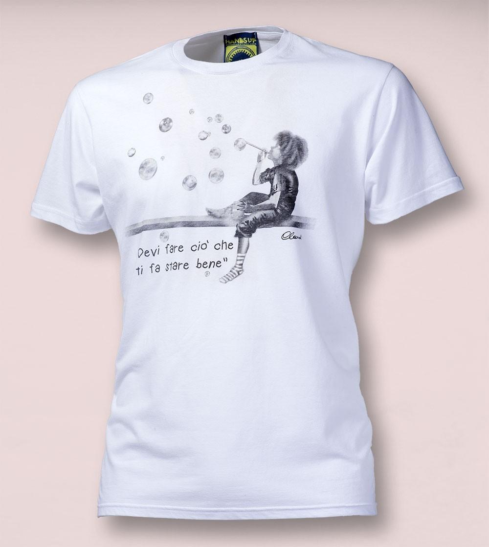 T-shirt TI FA STARE BENE White